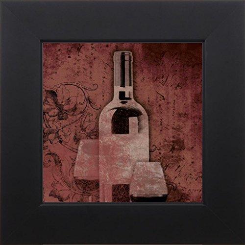 7x7 Wine and glass by Grey Jace Studio Black JG-SQ-102A