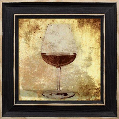 7x7 Wine glass by Grey Jace Distressed Classic Black JG-SQ-102C