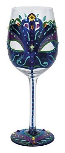 Enesco Presents Masquerade 7th Wine Glass Multicolor