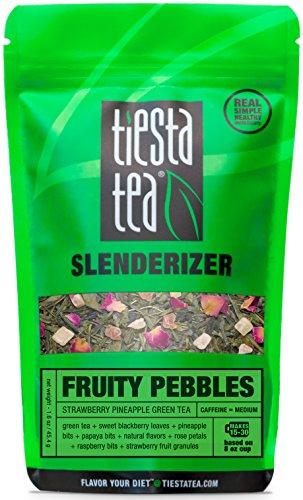 Strawberry Pineapple Green Tea  Fruity Pebbles by Tiesta Tea  Medium Caffeine  Loose Leaf Green Tea Slenderizer Blend  16 Ounce Pouch