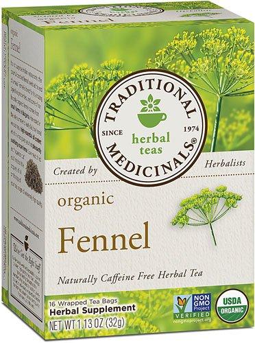 Traditional Medicinals Herbal Tea Organic Fennel -- 16 Tea Bags - 3PC