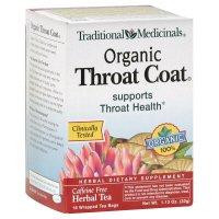 Traditional Medicinals Herbal Tea Organic Throat Coat 16 ct pack of 3