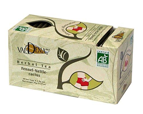 Valdena Bio Medicinal Herbal Tea - FENNEL-NETTLE-CACTUS 4 Packs - 80 Tea Bags