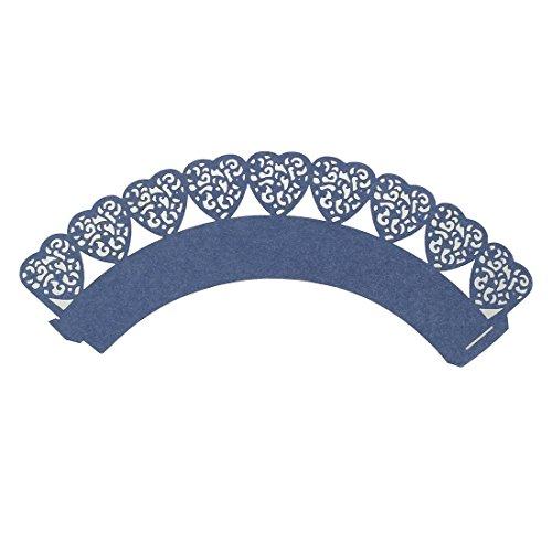 TOOGOOR50 pcs Wedding Cupcake Wrappers 16 Colours UK sellerNavy blue