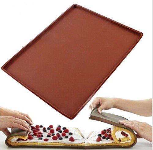 1 pc Non-stick Silicone Oven Mat Cake Roll Mat Baking Mat Functional Baking Macaron Cake Pad Swiss Roll Pad Bakeware Baking Tools