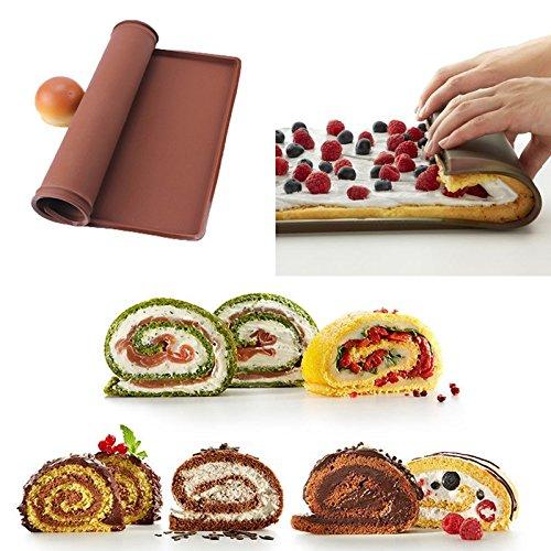 Hot 1 pc Non-stick Silicone Oven Mat Cake Roll Mat Baking Mat Functional Baking Macaron Cake Pad Swiss Roll Pad Bakeware Baking Tools