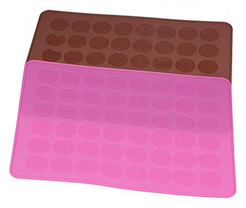 Dltsli 48 Capacity Silicone Macaron Macaroon Baking Mat Sheet DIY Mold - 2 pack