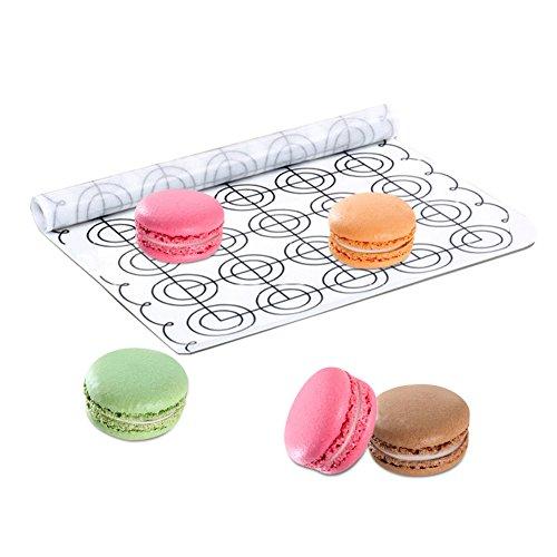 Round DIY Silicone Macarons Baking Mat Sheet Tray Liner Cake Mold Pad 65 Circles White 102 x 236inch