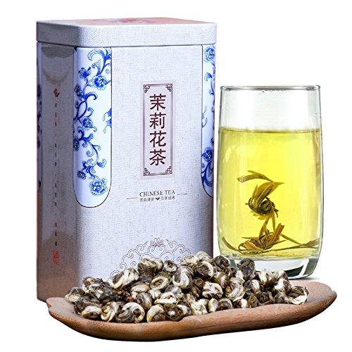 China Tea 2017 Fujian Fuzhou tea Jasmine Tea bulk Jasmine Pearl White Pearl super Luzhou tea 250g