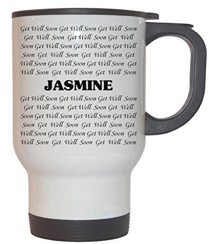 Get Well Soon Jasmine White Stainless Steel Mug 1003