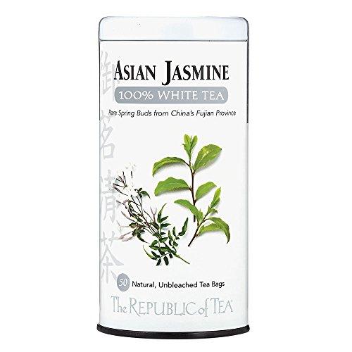 The Republic of Tea Asian Jasmine White Tea 50-Count