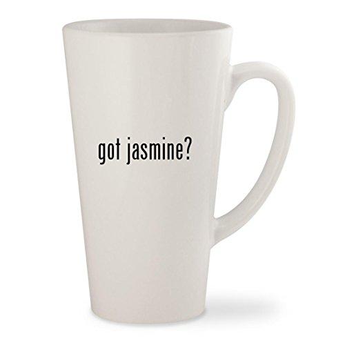 got jasmine - White 17oz Ceramic Latte Mug Cup