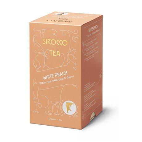 SIROCCO TEA Switzerland - WHITE PEACH - 20 tea bags