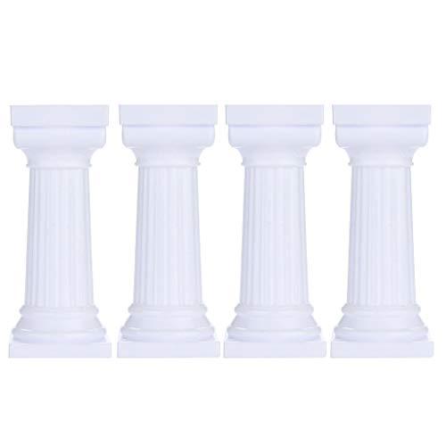 Cake Pillars Mold Sacow 4pcs Multi-layered Cake Roman Column Support Stand Decor Pillars Wedding Cake Mould