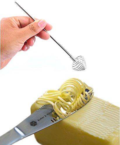 Butter Knife and Honey Dipper 403 Stainless Steel Butter Spreader and Butter Curler Set
