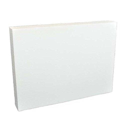 Oasis Supply 747504 Dummy Half Sheet Cake 12 x 18 x 4 White