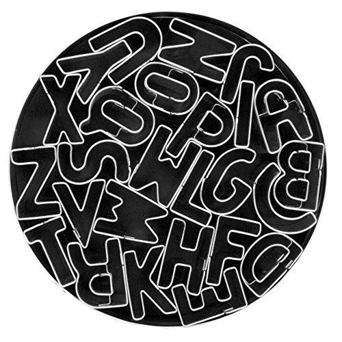 Fox Run 3689 Alphabet Cookie Cutter Set Stainless Steel 26-Piece