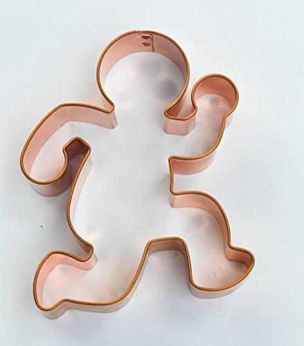 ecrandal Running Gingerbread Man copper cookie cutter