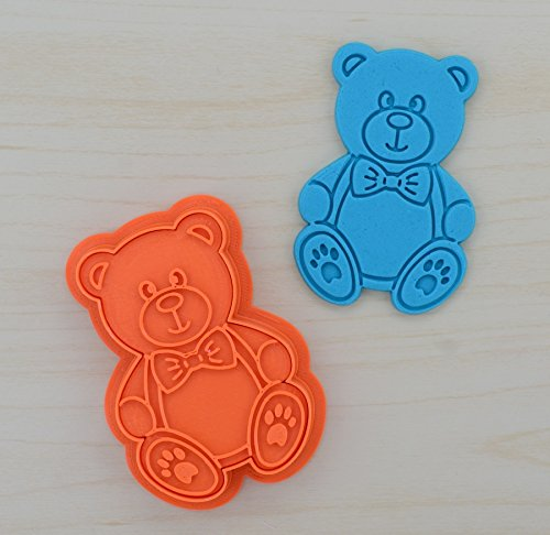 Boy Teddy Bear Cookie Cutter and Stamp Set 28 x 41 inches