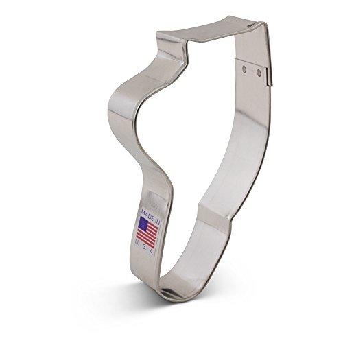 Ballet Slipper  Shoe  Foot Cookie Cutter - 45 Inches - Ann Clark - Tin Plated Steel