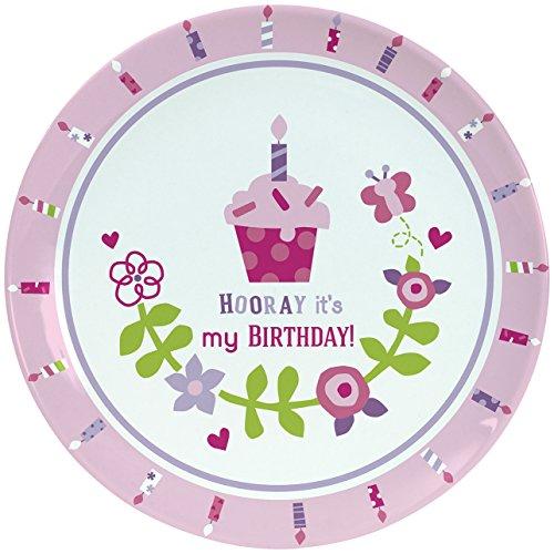 CR Gibson Porcelain Cake Plate By Gibby Libby Smash Cake Birthday Celebration Plate Dishwasher Safe Plate Measures 8 - Birthday Girl