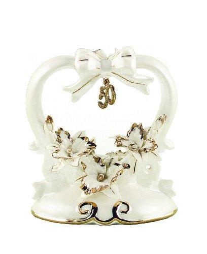 Hortense B Hewitt Wedding Accessories 50th Anniversary Porcelain Cake Top 45-Inches Tall