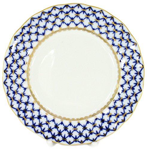 Lomonosov Porcelain Cake Dessert Coffee Tulip Plate Cobalt Net 59155 mm