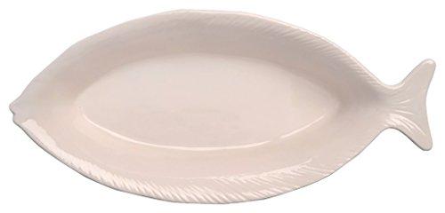 Boston International Lakeside Ceramic Fish Plate 1225 White