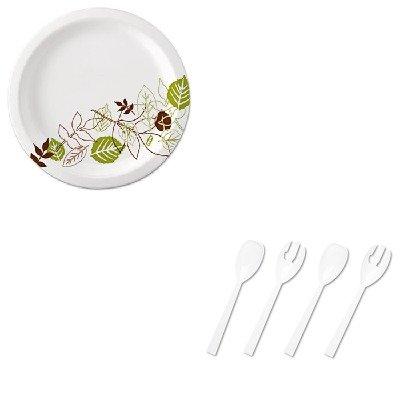 KITDXEUX9WSPKTBLW95PK4 - Value Kit - Tablemate Table Set Plastic Serving Forks ampamp Spoons TBLW95PK4 and Dixie Pathways Mediumweight Paper Plates DXEUX9WSPK