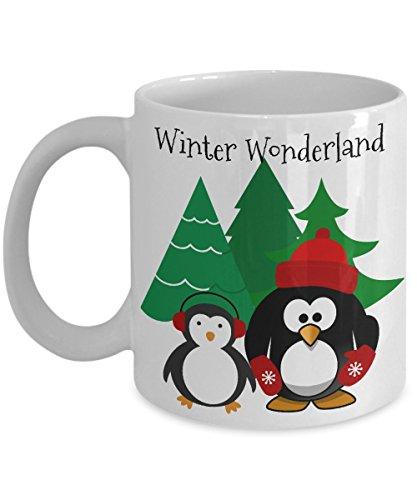 Winter Wonderland Mug - Cute Penguins Winter Coffee Mug