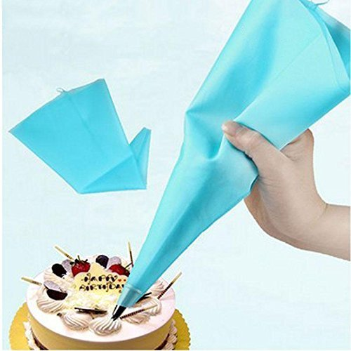 Bonlting 13 Reusable Silicone Icing Piping Cream Pastry Bag Cake DIY Decorating Tool