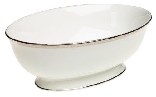 Lenox Murray Hill Platinum-Banded Bone China Open Vegetable Bowl