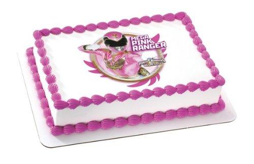 Mega Pink Power Ranger Edible Image Frosting Sheet Cake Topper Decoration