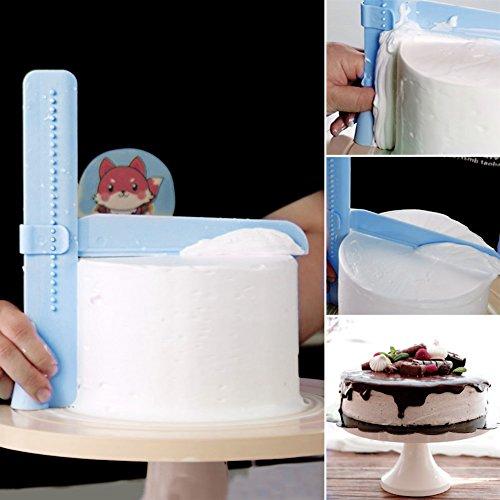 Future Adjustable Fondant Cake Scraper polisher Smoother Plastic Decorating Tools blue