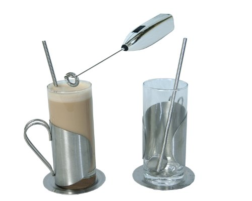 Cappuccino Whisk Glass Cups Set 7 - Item  48-707