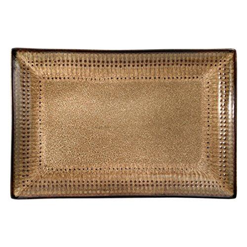 Pfaltzgraff 5119075 Cambria Rectangle Platter 14 x 9 Brown