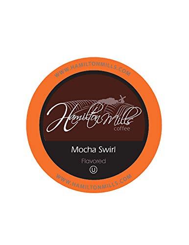 Hamilton Mills Mocha Swirl Coffee Pods 20 Keurig K-Cup Brewer Compatible 40 Count