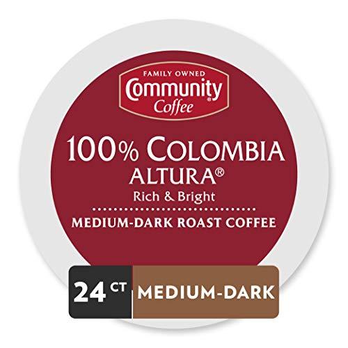 Community Coffee Medium Dark Roast Single Serve Colombia Altura 24 Count