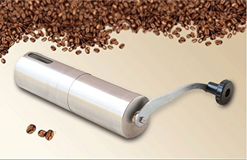 Shopline Coffee Grinder Stainless Steel Manual Conical Burr Mill for Beans Precision Brewing