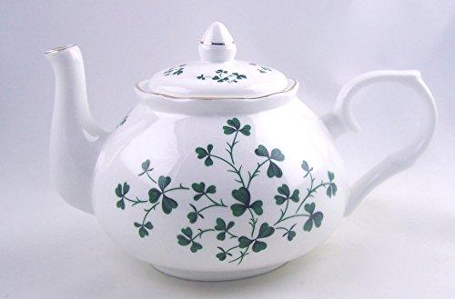 Fine English Bone China Teapot - Celtic Shamrock Chintz - Adderley of England