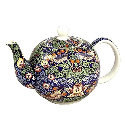 William Morris Strawberry Thief Teapot 6 Cup Fine Bone China English Teapot