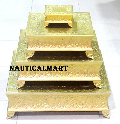 Beautiful Brass Finish Wedding Cake Stand Set Of 22 18 14 6 By Nauticalmart