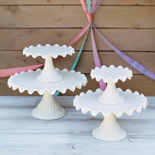 Cake Dessert Stands Vintage Cream Party Event Set of 4