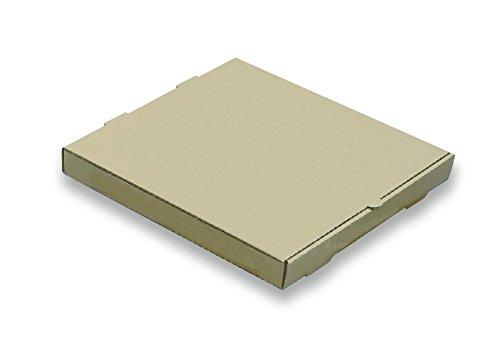W PACKAGING WPPB16K2P Plain Pizza Box B-Flute 2 Deep 16 Kraft Pack of 50