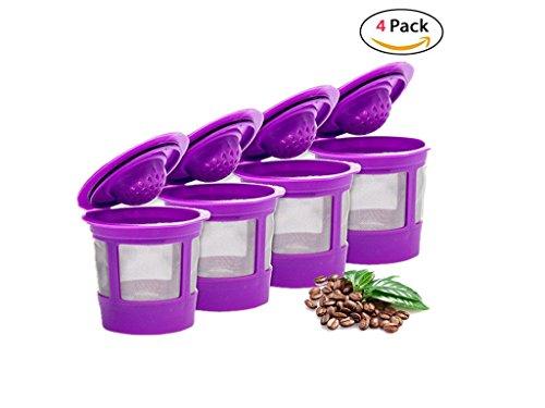4 Reusable K Cup Coffee Filters For Keurig Family 20 and 10 Brewers Fits K200 K300K350 K400K450K460 K500K550K560