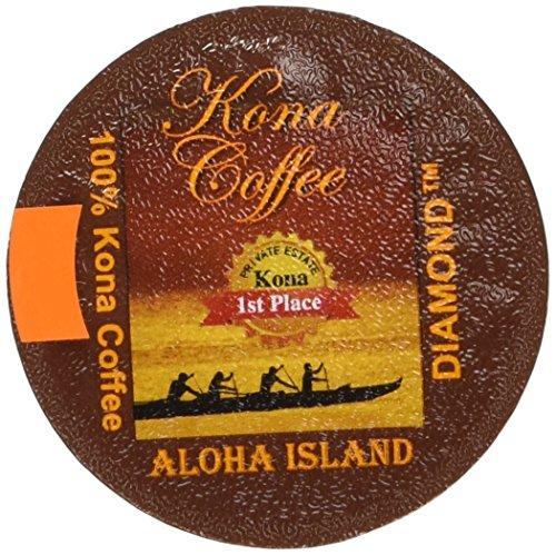 Keurig 20 100 Kona Coffee K-cups Private Reserve Diamond Pure Kona for Keurig 20 Box of 20 K-cups