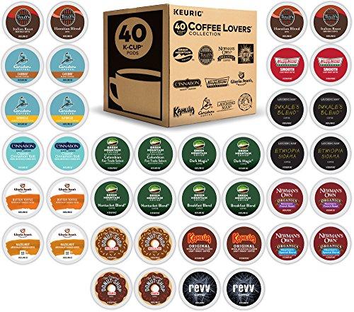 Green Mountain Coffee Keurig Coffee Lovers Variety Pack Single-Serve K-Cup Sampler 40 Count