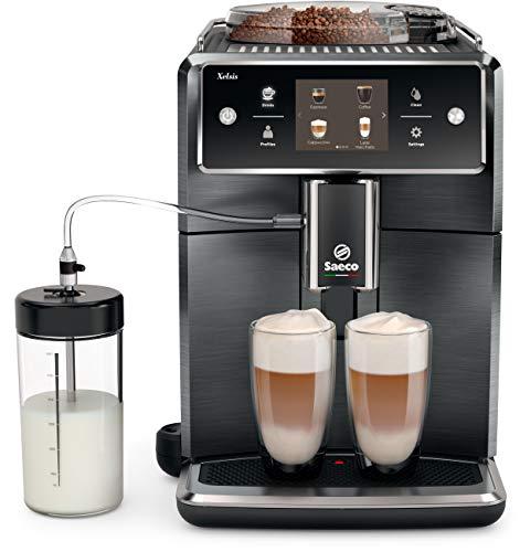Saeco Xelsis SM768404 Super Automatic Espresso Machine Titanium Metal Front