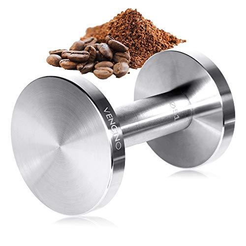Coffee Tamper Barista Espresso Tamper 51mm58mm Dual Sided Flat Base Uncoated Solid Stainless Steel Dishwasher Safe
