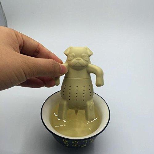 BigFamily 1PC Leaf Cute Animal Dog Herbal Spice Strainer Filter Silicone Tea Coffee Infuser Pug Mug Teapot